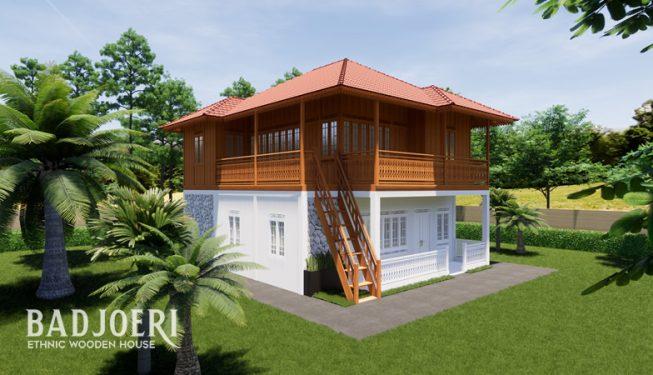 Tipe Kombinasi (2 Lantai) - Rumah Kayu Badjoeri